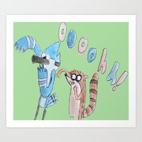 regular show Art Prints featuring The Regular Show  by Renatta Maniski-Luke