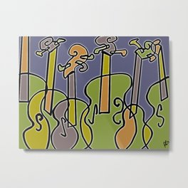Colorful Violins Metal Print