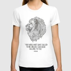 Aslan - You would not have called to me unless I had been calling to you White SMALL Womens Fitted Tee
