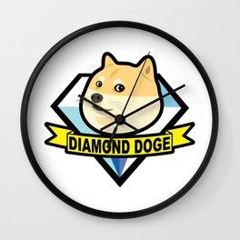 Diamond Doge Wall Clock