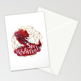 Horned Serpent Stationery Cards