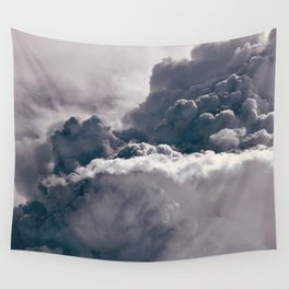 Heavy Thunder Clouds - Spectacular Aerial Photography Wall Tapestry