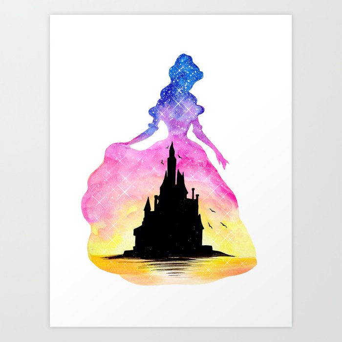 Princess Belle Beauty And The Beast Art Print By