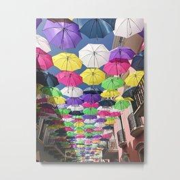 Umbrellas in Old San Juan Metal Print