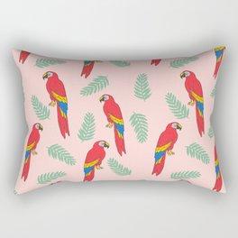 Macaw parrot tropical bird jungle animal nature pattern Rectangular Pillow