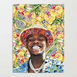 DaBaby portrait artwork Poster
