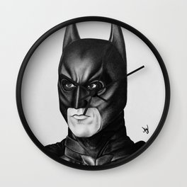 The Bat Drawing Wall Clock
