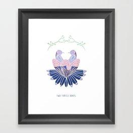 Two Turtle Doves Framed Art Print