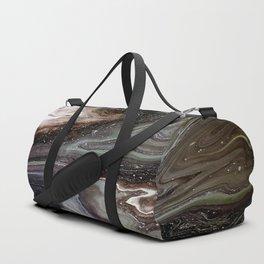 Black oil, acrylic on canvas Duffle Bag