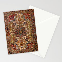 Persia Tabriz 19th Century Authentic Colorful Blue Red Yellow Vintage Patterns Stationery Cards