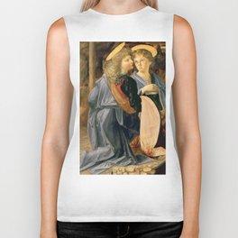 """Andrea del Verrocchio and Leonardo da Vinci """"Baptism of Christ"""" - angels Biker Tank"""