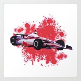 Indycar Dallara DW12 Art Art Print