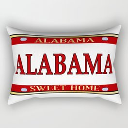Alabama State Name License Plate Rectangular Pillow