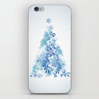 christmas tree iPhone & iPod Skins featuring Christmas Tree by MaNia Creations