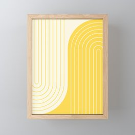 Two Tone Line Curvature V Framed Mini Art Print