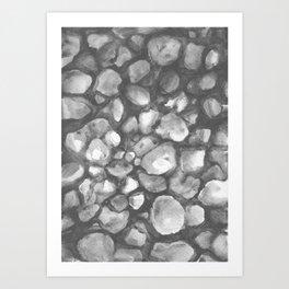 Riverstones Art Print