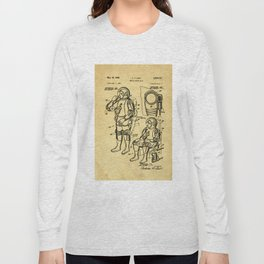 Mobile Space Suit Support Patent Drawing From 1956 Long Sleeve T-shirt