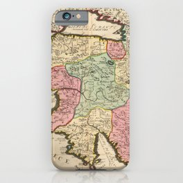 Vintage Map Print - 1696 Map of Morea and Surrounding Islands, Greece iPhone Case