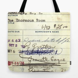 Library Card 828 The Enormous Room Tote Bag