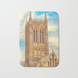 Central Tower of Lincoln Cathedral Bath Mat