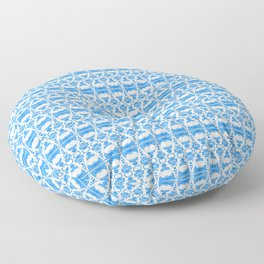 Dividers 02 in Blue over White Floor Pillow