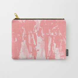 Cyclists in the sprint pink Carry-All Pouch