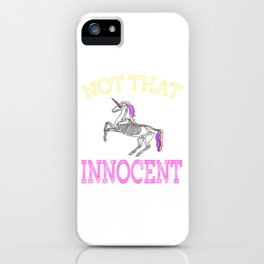 Creepy yet fantastic tee design for adult kiddos and family! Makes a creepy gift too!  iPhone Case