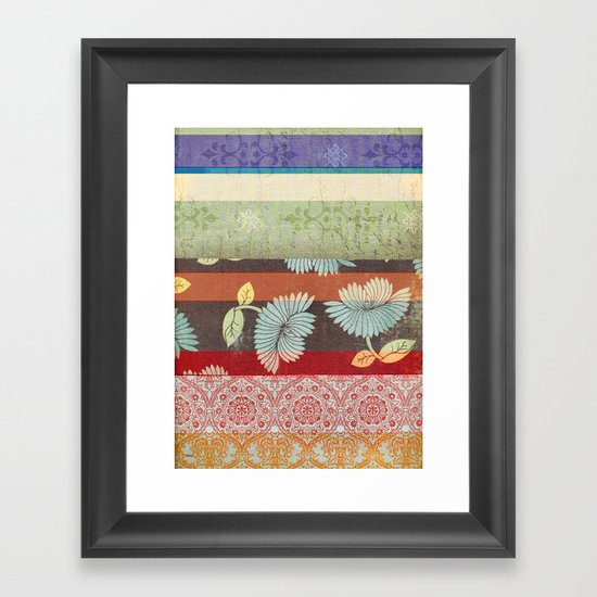 Color Strips Framed Art Print