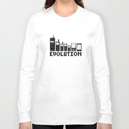 Cell Phone Evolution Long Sleeve T-shirt