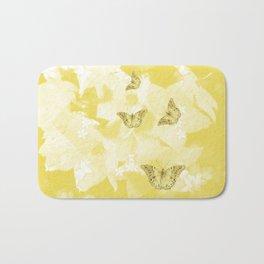 Secret spring garden with butterflies Bath Mat