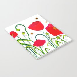 Flower#1 - Red Poppies Notebook