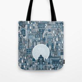 space city mono blue Tote Bag