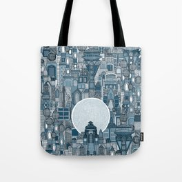 space city mono blue Tote Bag