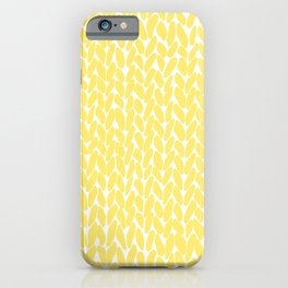 Hand Knit Illuminating Yellow iPhone Case