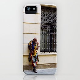African Sax Player iPhone Case