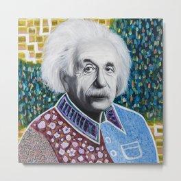 Einstein Painting Metal Print