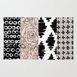 Vertical Stripe Patchwork Pattern Rug