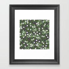 Mistletoe & Snow Framed Art Print