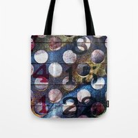 grid Tote Bags featuring Grid by Stephen Linhart