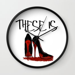 These is Red Bottoms Wall Clock