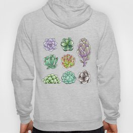 Succulents and Artichoke Hoody