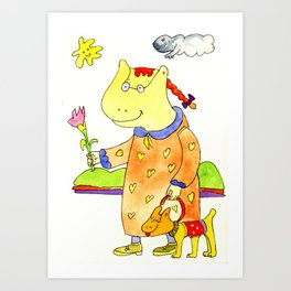 Barby and Candy Art Print