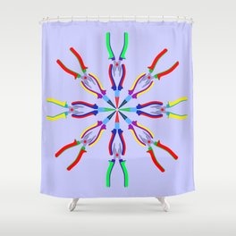 Pliers Design Shower Curtain