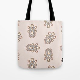 Jewelbox: Morganite Brooch in Light Blush Tote Bag