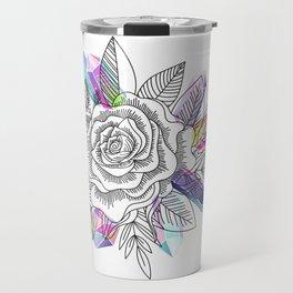 Rose and Crystals Travel Mug
