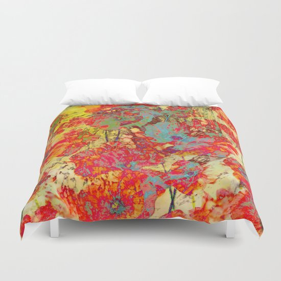 pop poppies Duvet Cover