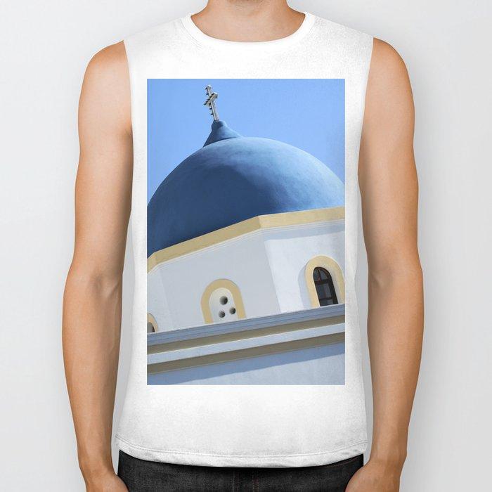 Church Dome Santorini Biker Tank