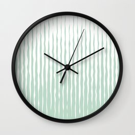 Simple Abstract Rough Organic Stripes | Light Natural Colors, Grass and Forest Wall Clock