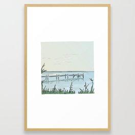 the transparant pier Framed Art Print