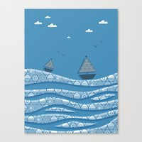 boats Canvas Prints featuring Boats by Matt Andrews